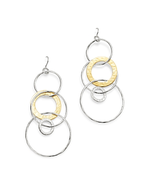 Ippolita Sterling Silver & 18K Yellow Gold Chimera Large Circle Drop Earrings