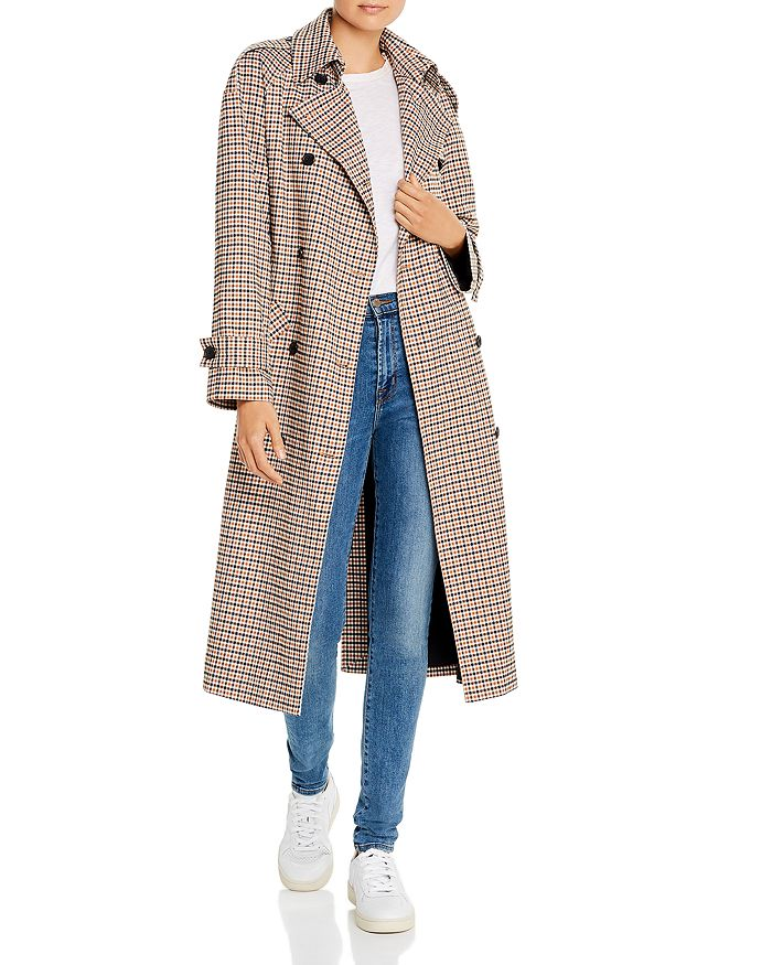 Anine Bing - London Plaid Trench Coat