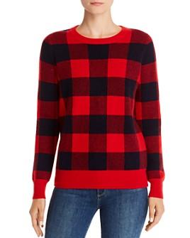 Madeleine Thompson - Wiggins Plaid Cashmere Pullover Sweater