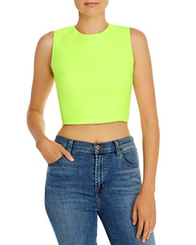 FRENCH CONNECTION - Whisper Sleeveless Zip-Detail Cropped Top