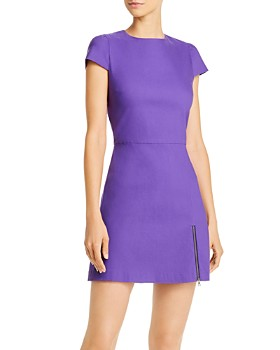 Alice and Olivia - Maya Zip Detail Mini Dress