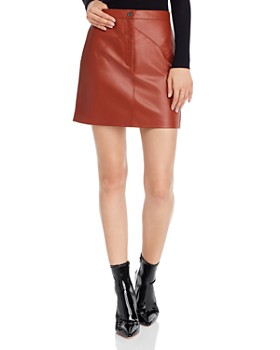 BB DAKOTA - Keep Livin Faux Leather Skirt