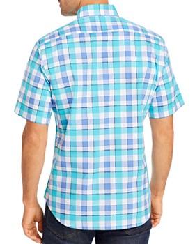 TailorByrd - Gerold Short-Sleeve Plaid Regular Fit Button-Down Shirt