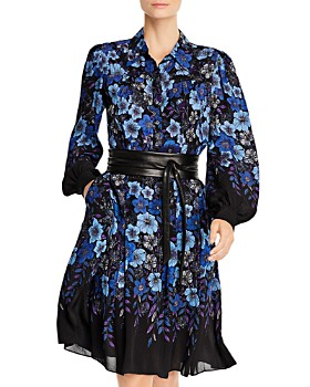 Elie Tahari - Hellen Belted Floral-Print Dress