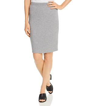 Eileen Fisher - Ribbed Wool Pencil Skirt