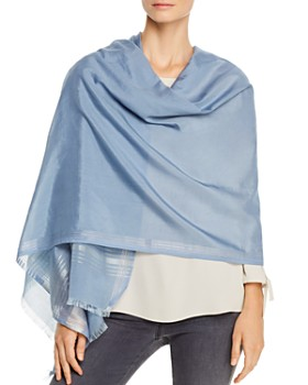 Eileen Fisher - Striped Border Wrap