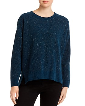 Eileen Fisher - Speckled Organic-Cotton Crewneck Sweater
