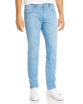 BOSS - Delaware Comfort Slim Fit Jeans in Turquoise