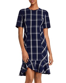 Shoshanna - Layton Plaid Crepe Dress