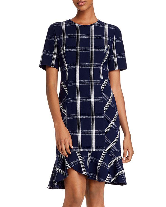 Shoshanna - Layton Plaid Crepe Dress