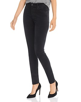 AG - Farrah Velvet Skinny Jeans in Super Black