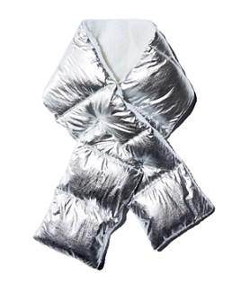 AQUA - Sherpa-Trim Puffer Scarf - 100% Exclusive