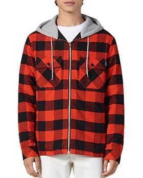 Sandro - Lumber Buffalo Check Slim Fit Hooded Jacket