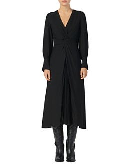 Sandro - Minella Twist-Front Midi Dress