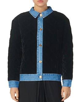Sandro - Velvet Jacket with Denim Trim
