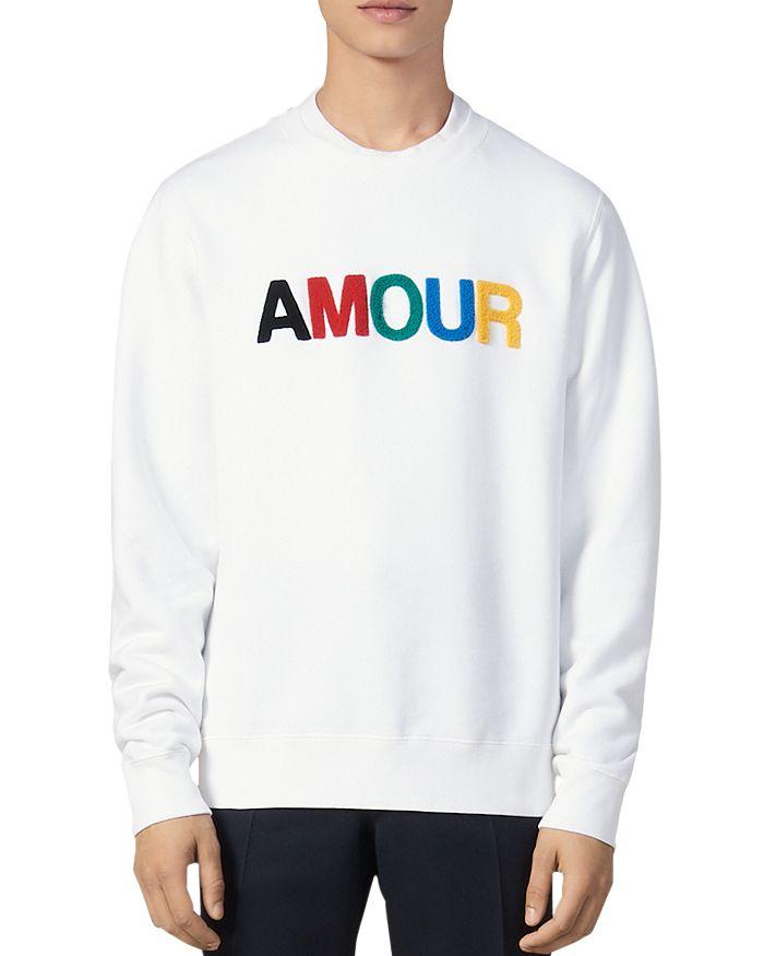 Sandro - Amour Fleece Crewneck Sweatshirt