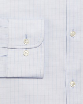 The Men's Store at Bloomingdale's - Checked Stretch Regular Fit Dress Shirt