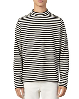 Sandro - Breton Stripe Mock-Turtleneck Shirt