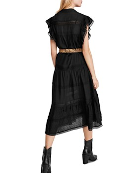 Free People - Midnight Lace-Trim Midi Dress