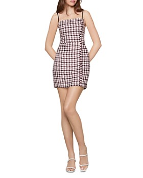 BCBGENERATION - Houndstooth Tweed Mini Dress