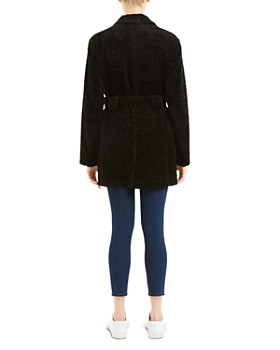 Theory - Belted Soft-Knit Peacoat