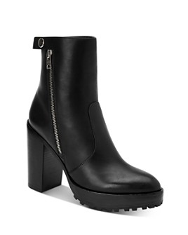ALLSAINTS - Women's Ana Block Heel Ankle Booties