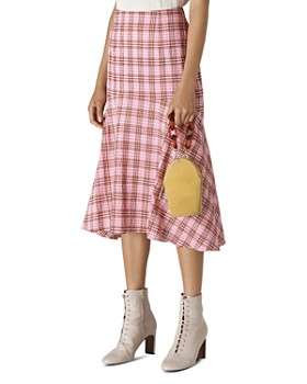 Whistles - Check Seersucker Midi Skirt