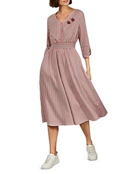 Ted Baker - Gymni Striped Smocked-Waist Dress