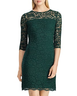 Ralph Lauren - Scalloped Floral Lace Dress