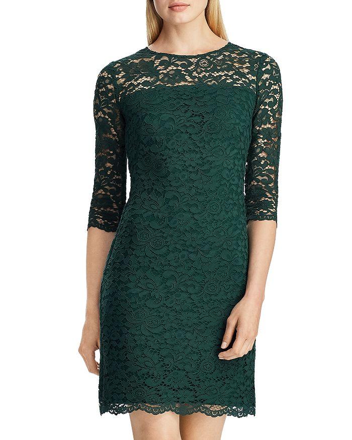 Ralph Lauren - Scalloped Floral Lace Dress