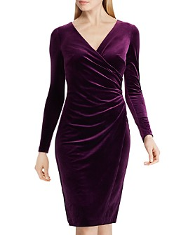 Ralph Lauren - Crossover V-Neck Velvet Dress