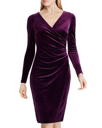 Ralph Lauren - Crossover V-Neck Velvet Dress