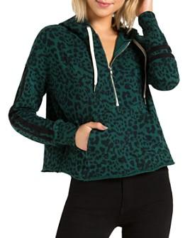 n:philanthropy - Hickory Jaguar-Print Half-Zip Hooded Sweatshirt
