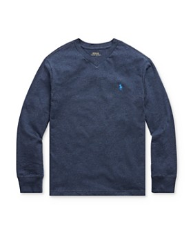 Ralph Lauren - Boys' Long Sleeve V-Neck Tee - Big Kid