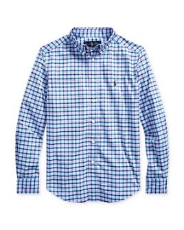 Ralph Lauren - Boys' Plaid Performance Button-Down Shirt - Big Kid
