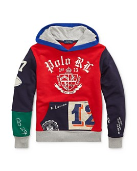 Ralph Lauren - Boys' Patchwork Hoodie - Big Kid