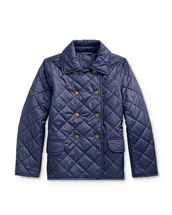 Ralph Lauren - Girls' Quilted Double-Breasted Jacket - Big Kid