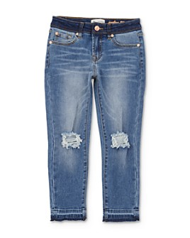 7 For All Mankind - Girls' Two-Tone Edie Jeans - Big Kid