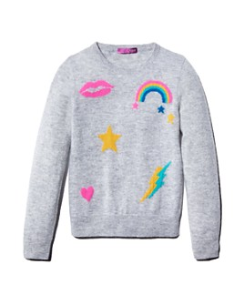 AQUA - Girls' Cashmere Graphic Sweater, Big Kid - 100% Exclusive