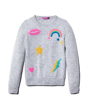 AQUA - Girls' Cashmere Graphic Sweater, Big Kid - 100% Exclusive