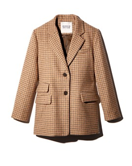 MARRON EDITION by W CONCEPT - Houndstooth Oversized Fit Blazer