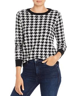 Madeleine Thompson - Happy Houndstooth-Print Cashmere Sweater