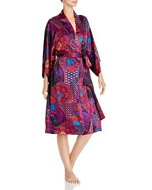 Natori Empress Print Wrap Robe-Women