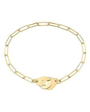 18K Yellow Gold Menottes Chain Bracelet