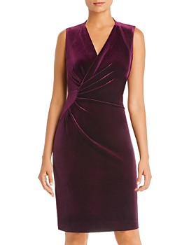 Elie Tahari - Dolly Sleeveless Ruched Velvet Dress - 100% Exclusive