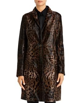 Elie Tahari - Angelina Leopard-Print Calf-Hair Coat