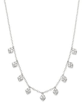Bloomingdale's - Diamond 4-Stone Droplet Necklace in 14K White Gold, 0.60 ct. t.w. - 100% Exclusive