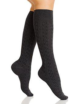 HUE - Graduated Compression Cable Knee Socks