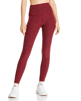 Beyond Yoga - Space-Dye Zip-Hem Leggings