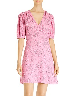 kate spade new york - Meadow Puff-Sleeve Floral Wrap Dress